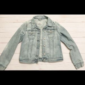 Old Navy light wash denim jean jacket size med